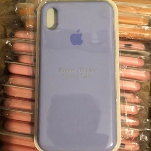 iPhone Xs Max silicone case-Pastel purple